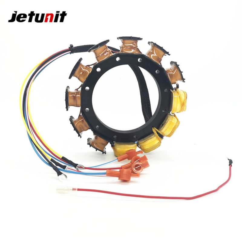 JETUNIT 100%premium Mercury Outboard 16 Amp Stator Assy 6 Cyl 174-5456-16 398-5454A11 398-5454A15