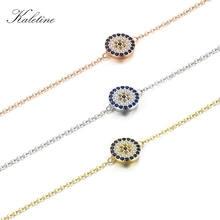 Женские браслеты kaletine из серебра 925 пробы с голубым Цирконом
