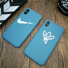 Blue Cute Soft For Iphone 11 Pro Max X Xs Max Xr 8 7 6 6s Plus Silicone Phone Cover Sports Logo Matte Coque Fundas Capa 8plus цена и фото