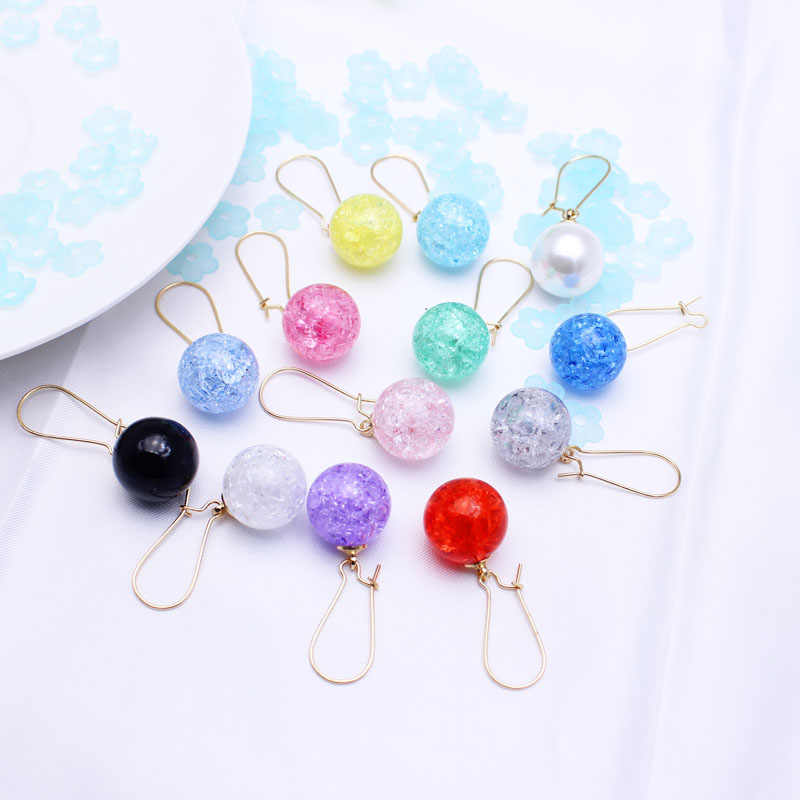 Shiny Side New Fashion Brand Jewelry Simple Pearl Dangle Earrings for Women Gift Summer Style Candy Color Earrings