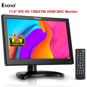 Eyoyo 11.6 1366x768 HDMI Monitor For TV Computer PC IPS LCD Screen with USB VGA AV BNC Audio Moniteur for Security Camera