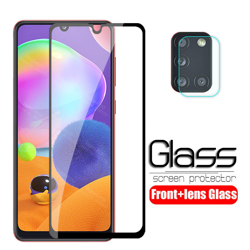 For Samsung A31 Glass 2 In 1 Camera Lens Tempered Glass For Samsung Galaxy A31 A 31 A315F A315 Screen Protector Protective Film