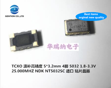 2pcs 100% New And Orginal TCXO Temperature Compensation 5032 25M 25MHZ 25.000MHZ 5x3.2 4-pin NT5032SC High Precision