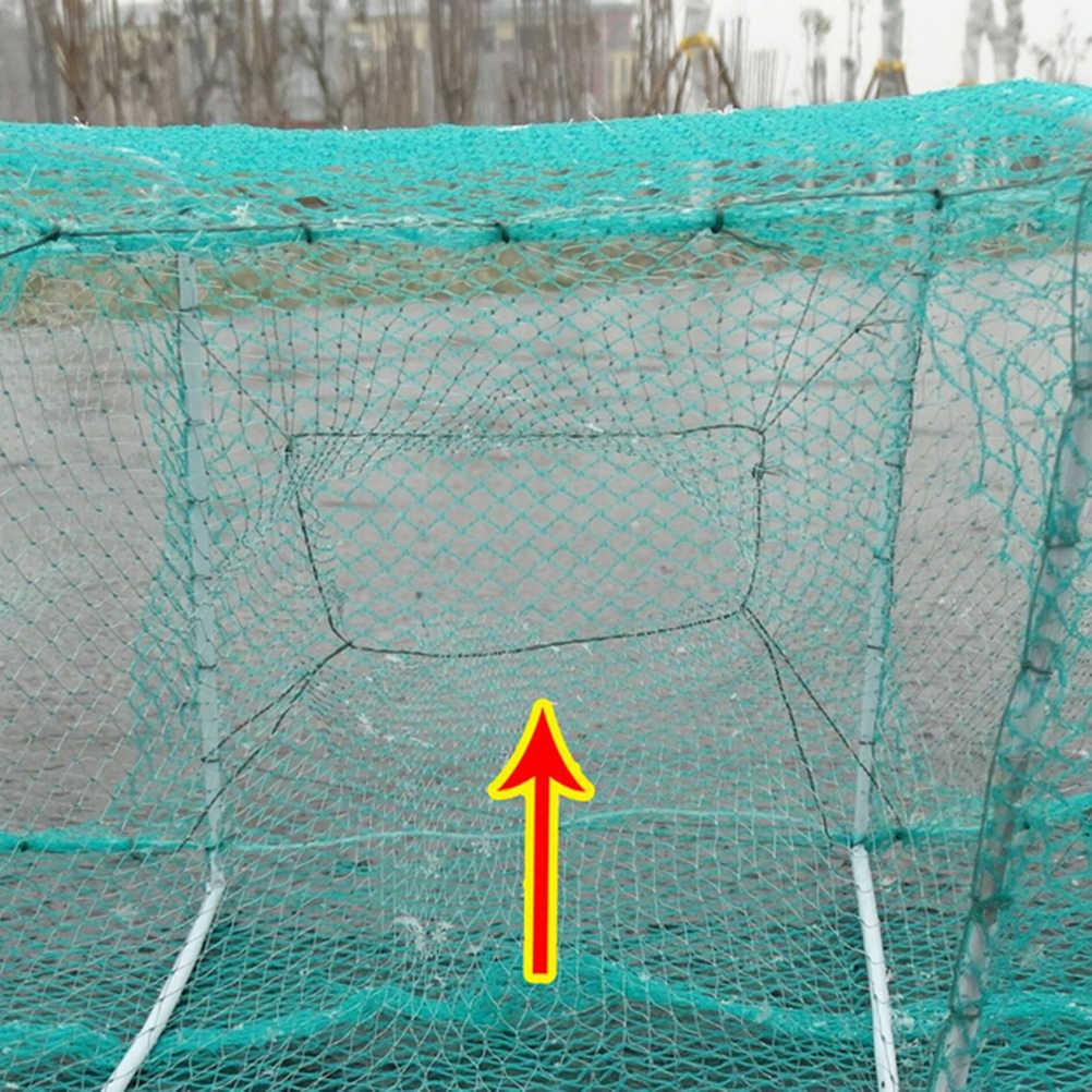 3.3M กุ้ง Nets ไนล่อนสุทธิพับแบบพกพาปูกุ้งกุ้งก้ามกรามกุ้งก้ามกราม Catcher กับดัก Live ปลาสุทธิปลาไหล
