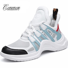 Sneakers Comemore Womens Tennis-Shoes Train Shoe-Sport High-Top White Breathable Lady