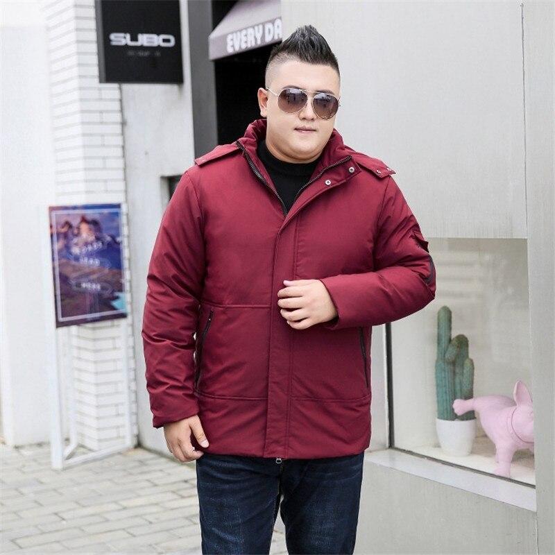 Новая мода, плюс размер ветровка мужская зимняя парка с капюшоном теплая куртка Повседневная Длинная секция негабаритная 9XL 10XL хлопок пальт... - 3