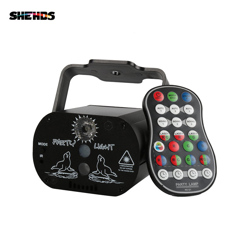 SHEHDS Charged Mini USB 60 Laser Lamp Professional Stage Light DJ Party Disco Night Clubs Patten Gobo Laser Lighting