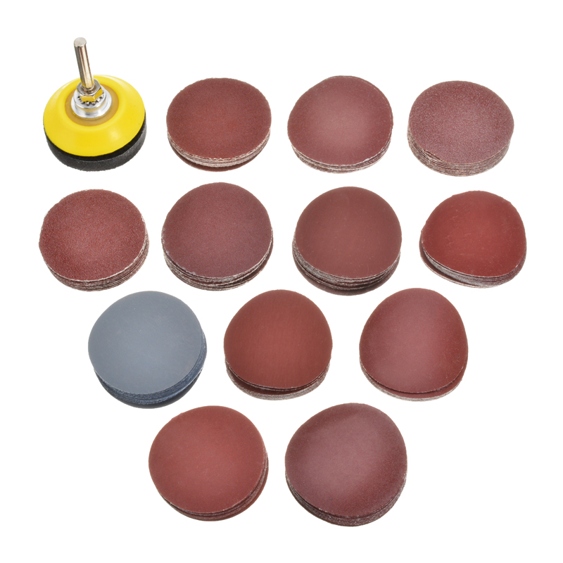 120Pcs 2'' Sanding Disk Sand Pad Set 60-3000 Grit Sanding Disc R Roloc Abrasive Roll Lock With Rubber Torque Tray For Sander