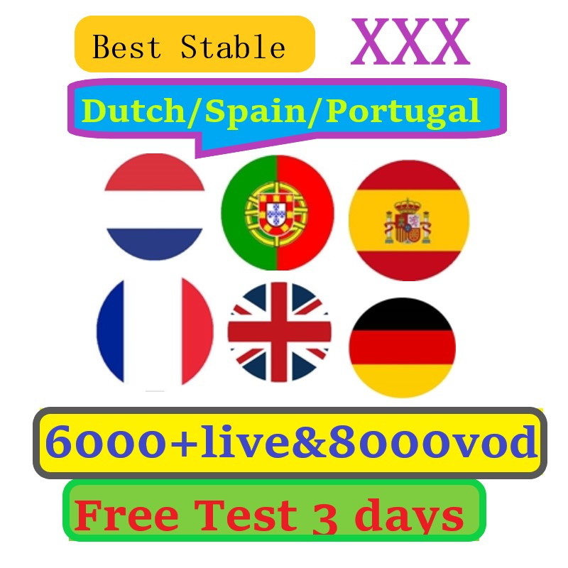 IPTV Subscription In Europe France Britain German Dutch Sweden French 6000 Live Adult XXX Sports Live 1/3/6/12 Months