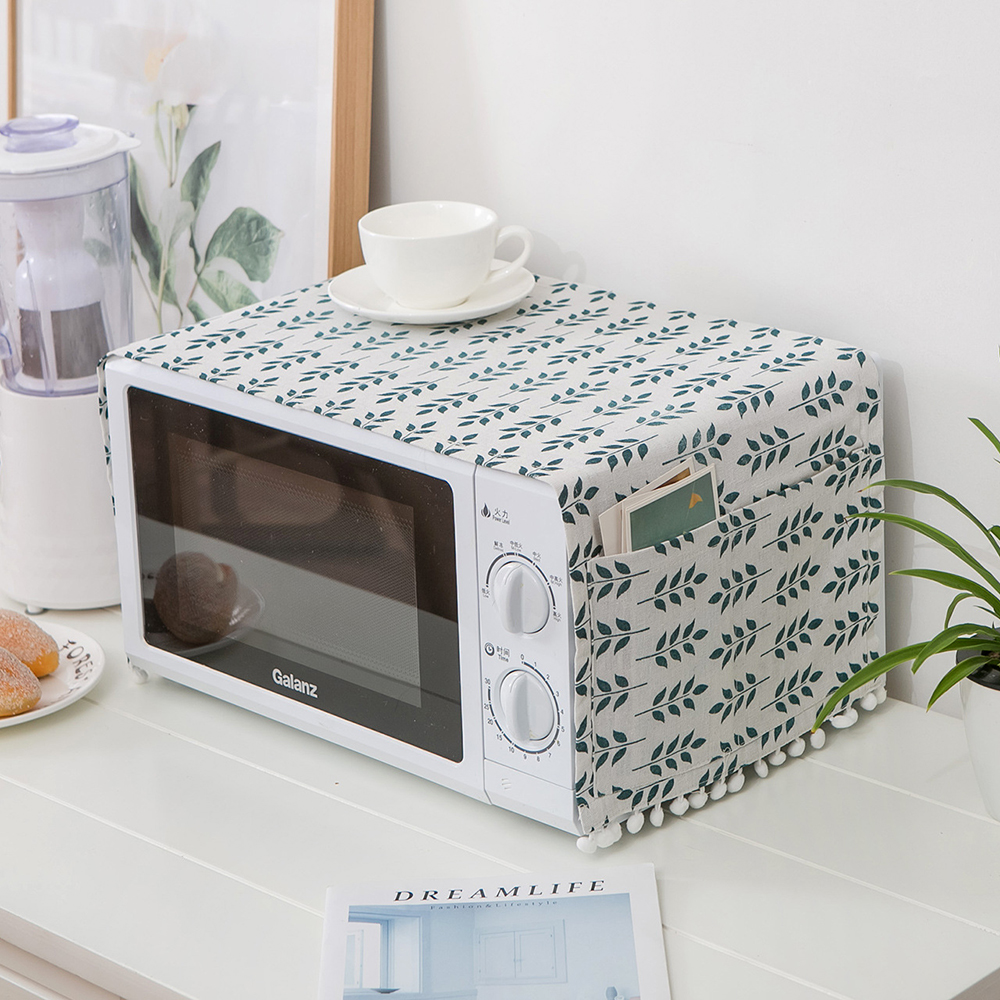 Microwave Oven Accessories Cover Hood Oil Dust Cover With Storage Bag Kitchen Accessories Supplies For Home Kitchen Decoration