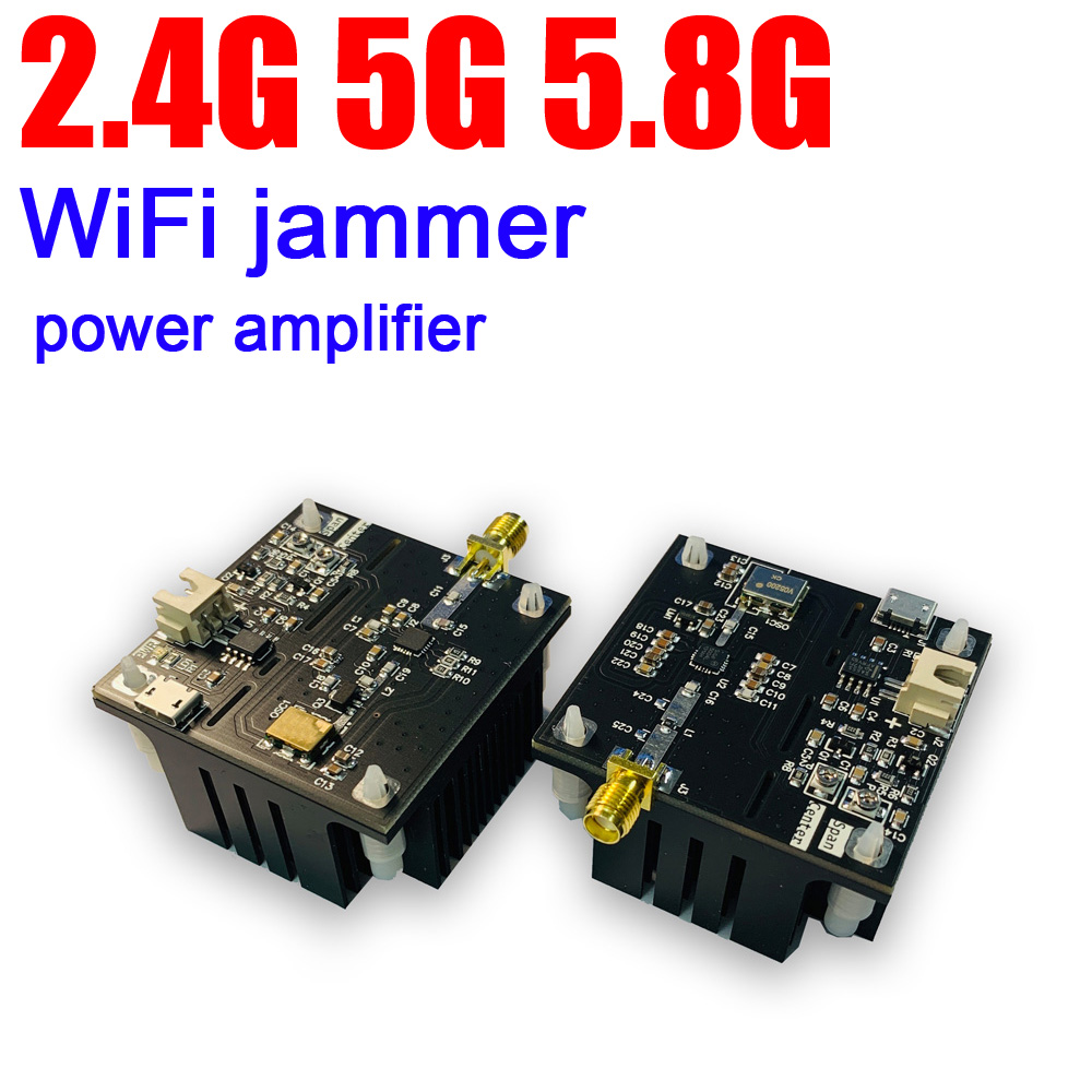 2.4G 5G 5.8G WiFi Swept  Jammer With Integrated Power Amplifier Jammer Swept 2.4Ghz 5Ghz 5.8 Ghz WiFi Disturber Jammer Shielded
