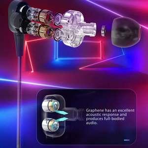 Image 4 - BlitzWolf BW ES4 유선 헤드폰 헤드셋 듀얼 다이내믹 드라이버 이어폰 IPX5 인 이어 이어폰 3.5mm 유선 컨트롤 이어폰 헤드폰 마그네틱 마이크 하이파이 음악