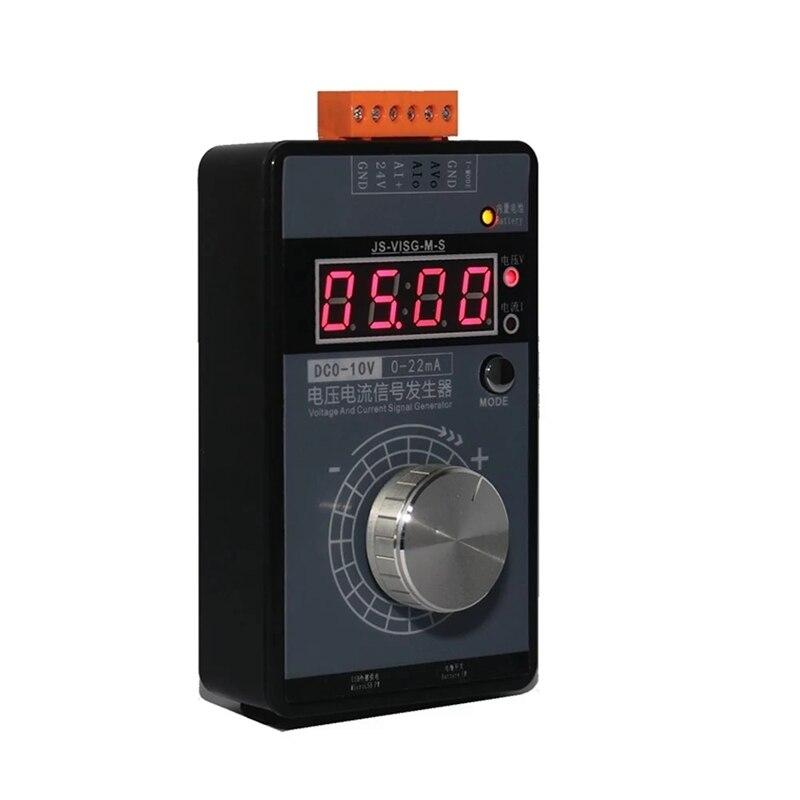 Portable High Accuracy 0-5V 0-10V 4-20MA Signal Generator Pocket Adjustable Voltage Current Simulator Calibrator
