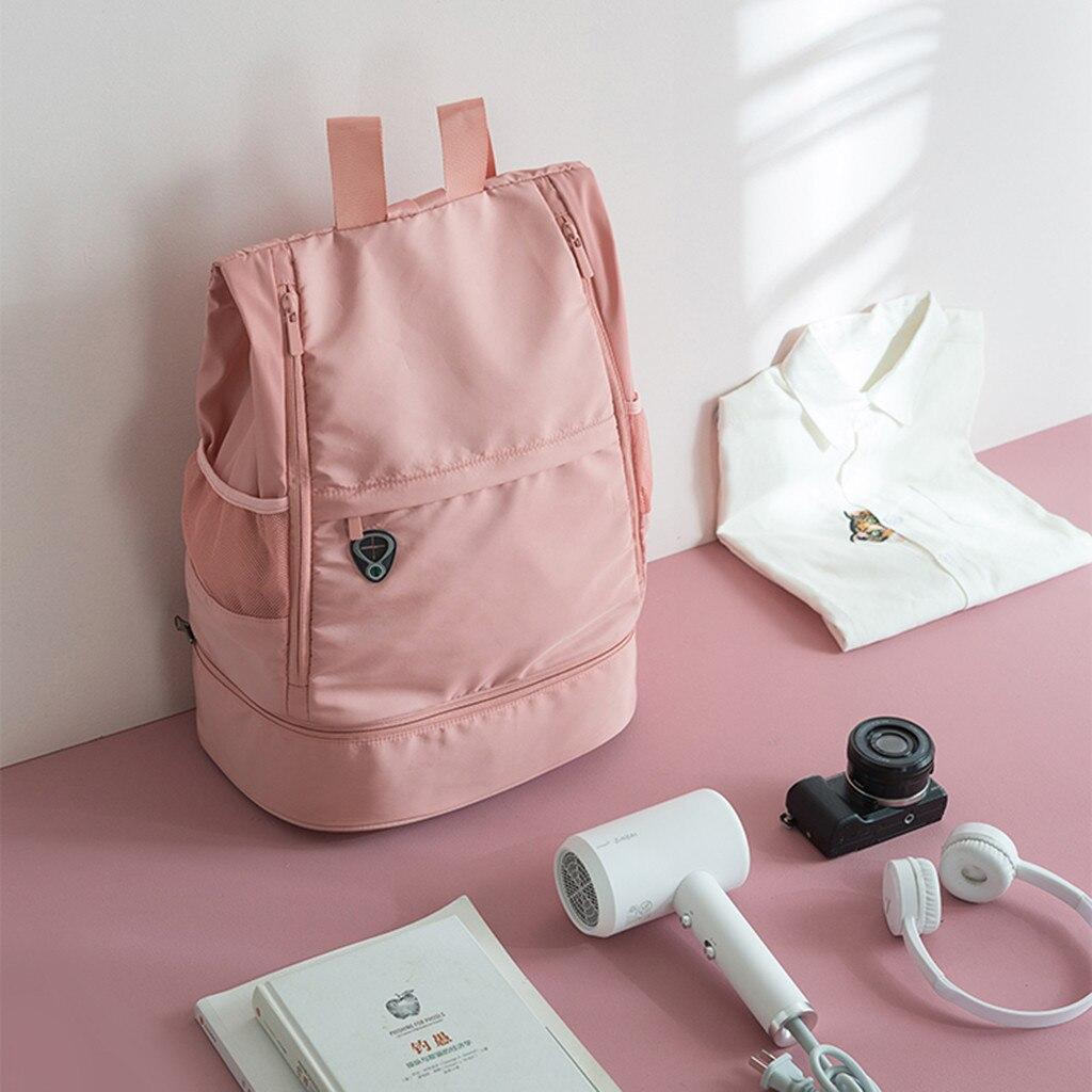 Trend Fashion Bag Leisure Shoulders Backpack Zipper College Bag Women/Girl/Men/Boy Nylon Canvas Bag Travel Sports Scenes Bags #f