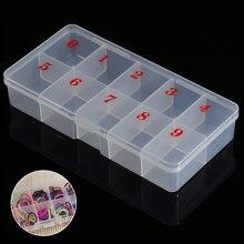 Прозрачный пластиковый футляр для хранения накладных ногтей