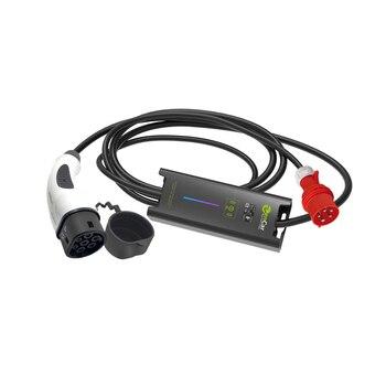 5 broches CEE IEC 62196-2 Type 2 ev prise réglable EVSE 8A 10A 16A 5M câble noir pour voiture électrique de charge pour domestique