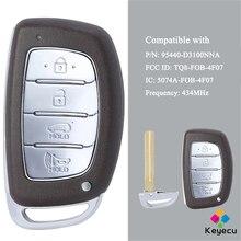 KEYECU mando a distancia inteligente para coche, llave de coche con 4 botones, 434MHz, FOB, para Hyundai Tucson 2016 2017 P/N: 95440 D3100 TQ8 FOB 4F07