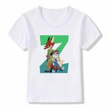 Boys/Girls/Baby crazy animal city Zootopia Judi fox rabbit Nick City Utopia t shirt New Zotopia Kids T-shirt стоимость