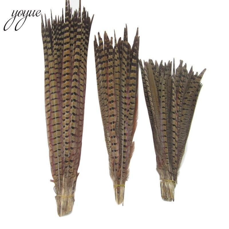 Wholesale 10-100pcs Natural golden pheasant tail feathers 50-75cm 20-30inch