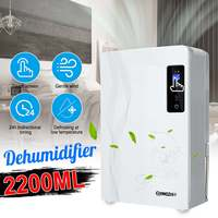 Smart Home 2.2L LCD Display Dehumidifier Moisture Absorber Air Dryer Automatic Basement Mute Remote Control Timing|Dehumidifiers|Home Appliances -