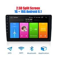 2 din Car Android 8.1 Multimedia Player Quad Core 2 din car radio Split Screen GPS navigation Wifi Bluetooth Audio stereo 1+16