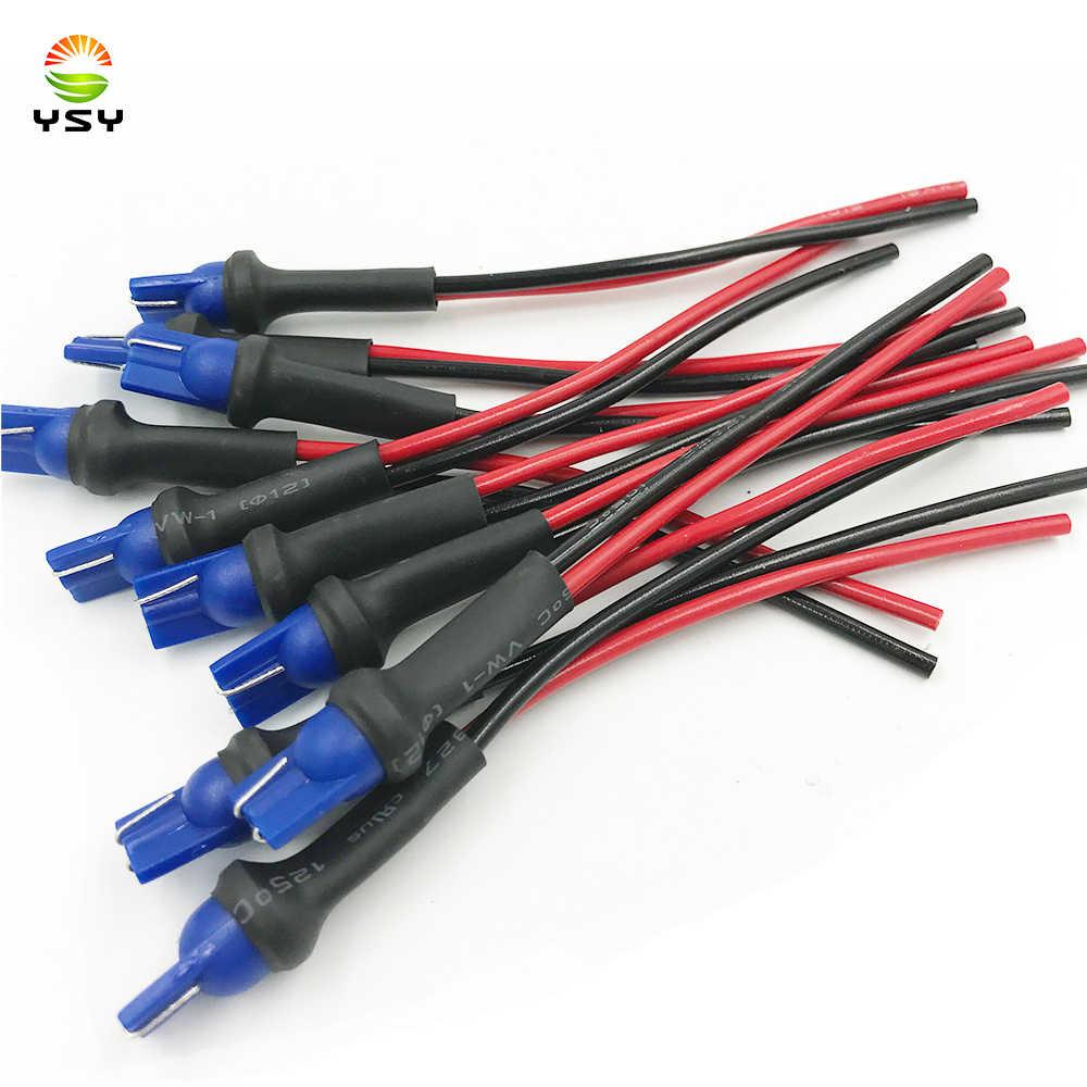 2 Pcs T10 Soket Pemegang Base T10 W5W Mobil Headlight Perakitan Steker Soket Adaptor Diperpanjang Kawat Konektor R30 Mobil lampu Kabel