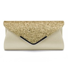 Clutches Bag Crystal-Day-Clutch Wedding-Purse Sequin-Shoulder Silver Gold Female Women