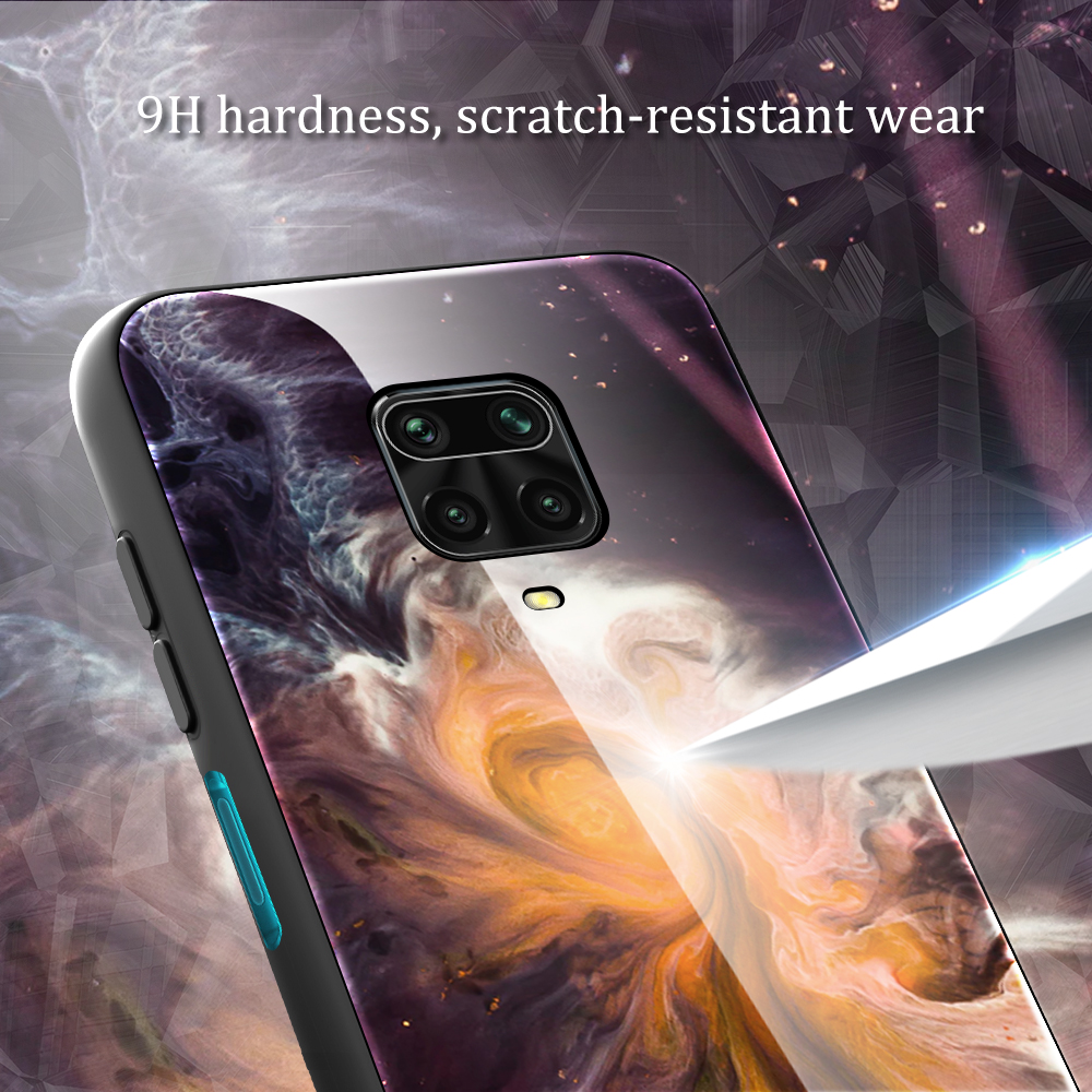 For Xiaomi Redmi Note 9S Marble Pattern Tempered Glass Back Cover Case For Xiaomi Redmi Note 9 8 Pro Note8 Note9