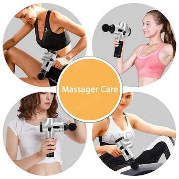 LCD Display Massage Gun Deep Muscle Massager Muscle Pain Body Neck Massage Exercising Relaxation Slimming Shaping Pain Relief Beauty and Health Personal Care Appliance