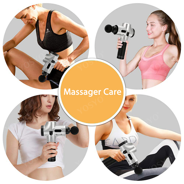 LCD Display Massage Gun Deep Muscle Massager Muscle Pain Body Neck Massage Exercising  Relaxation Slimming Shaping Pain Relief 5