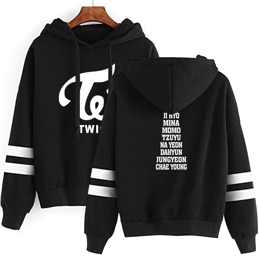Twice Fashion Print Hoodies Outwear Sweatshirt Casual Unisex Soft Streetwear Casual Hot Sale Clothes