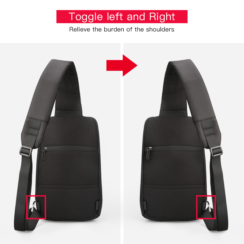 Image 3 - Kingsons 2019 New 3174 A  Leisure Travel Single Shoulder Backpack 10.1 inch Chest Backpack For Men Women Casual Crossbody Bag-in Backpacks from Luggage & Bags