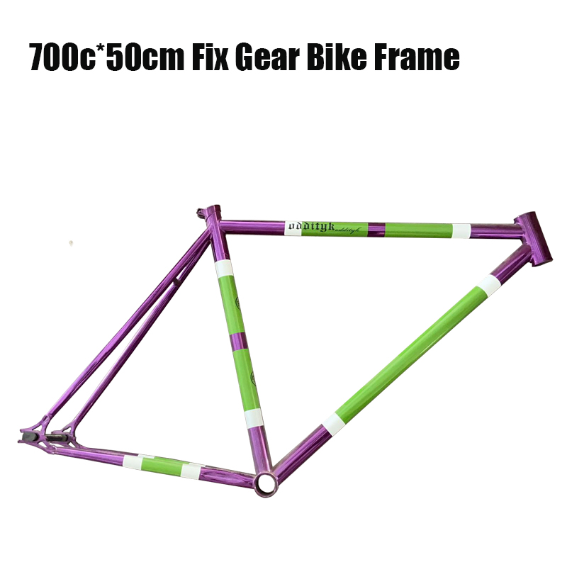 cool price Original oddityk Crom <font><b>steel</b></font> Drawing paint fixed gear bicycle <font><b>frame</b></font> image