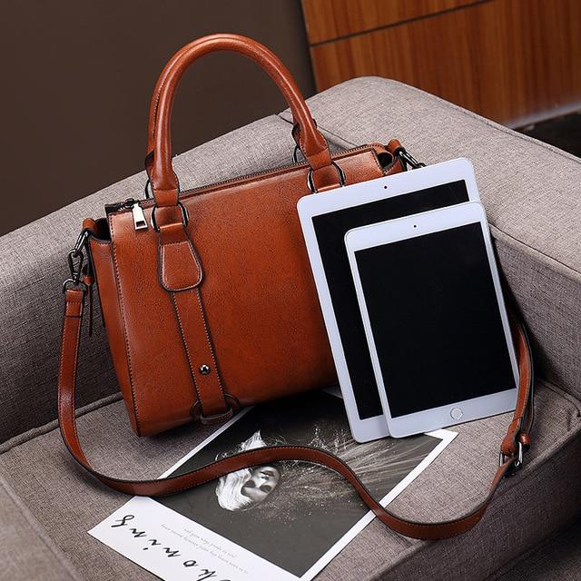 100% Genuine leather Women handbags Cow Leather Bag Ladies Genuine Leather Handbags Big Women Bags Large Vintage Female  Office 4