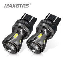 2x najnowszy 7443 7444 7440 7441 992 W21/5W żarówki LED z projektorem do tylnego hamulca ogon RV włącz światła sygnalizacyjne biały 6000K