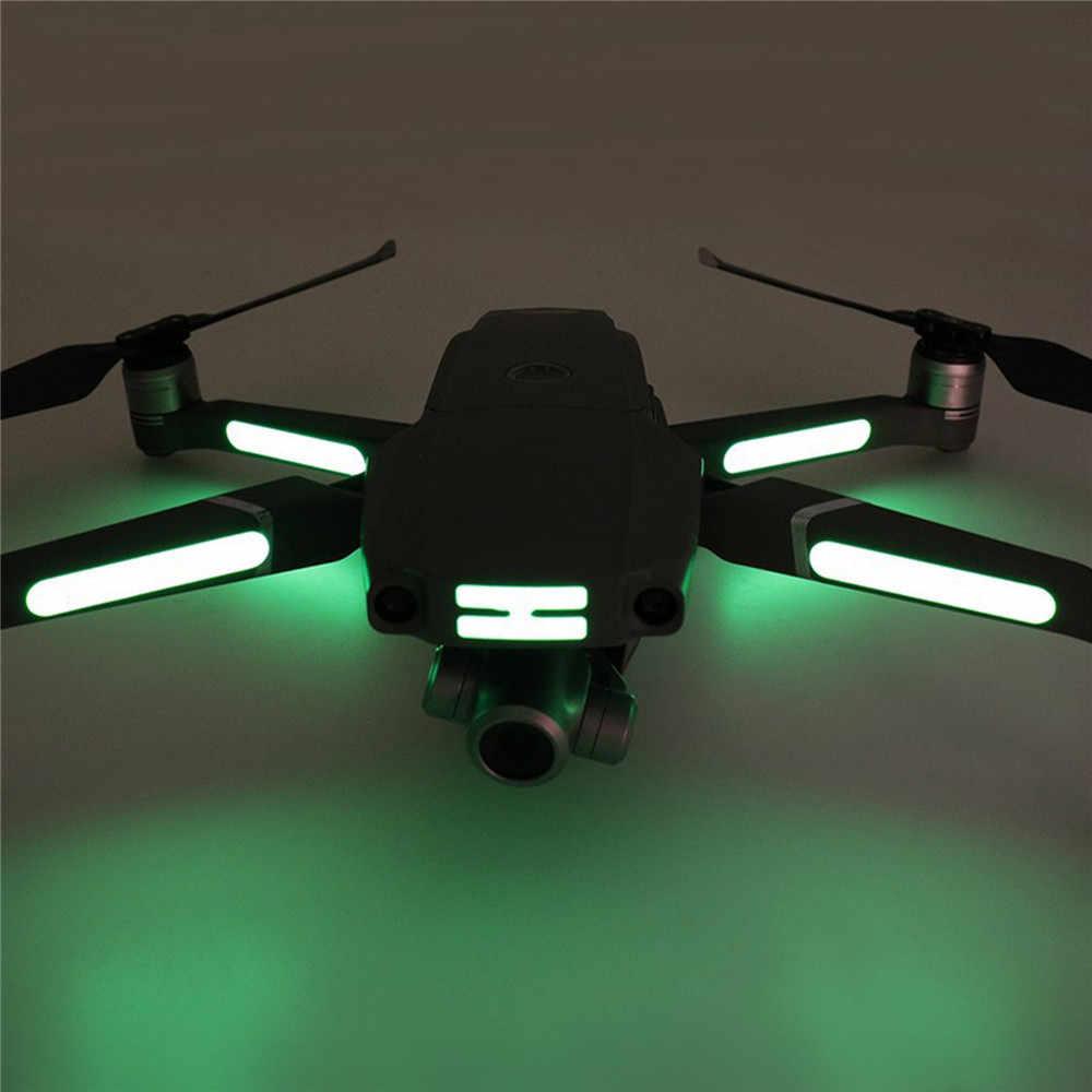 2pcs Luminous Stickers For Mavic Pro Air Autel Evo 2 Noctilucent Decoration Decals For Dji Mavic Air 2 Rc Drone Arm Accessories Camera Drone Decals Aliexpress