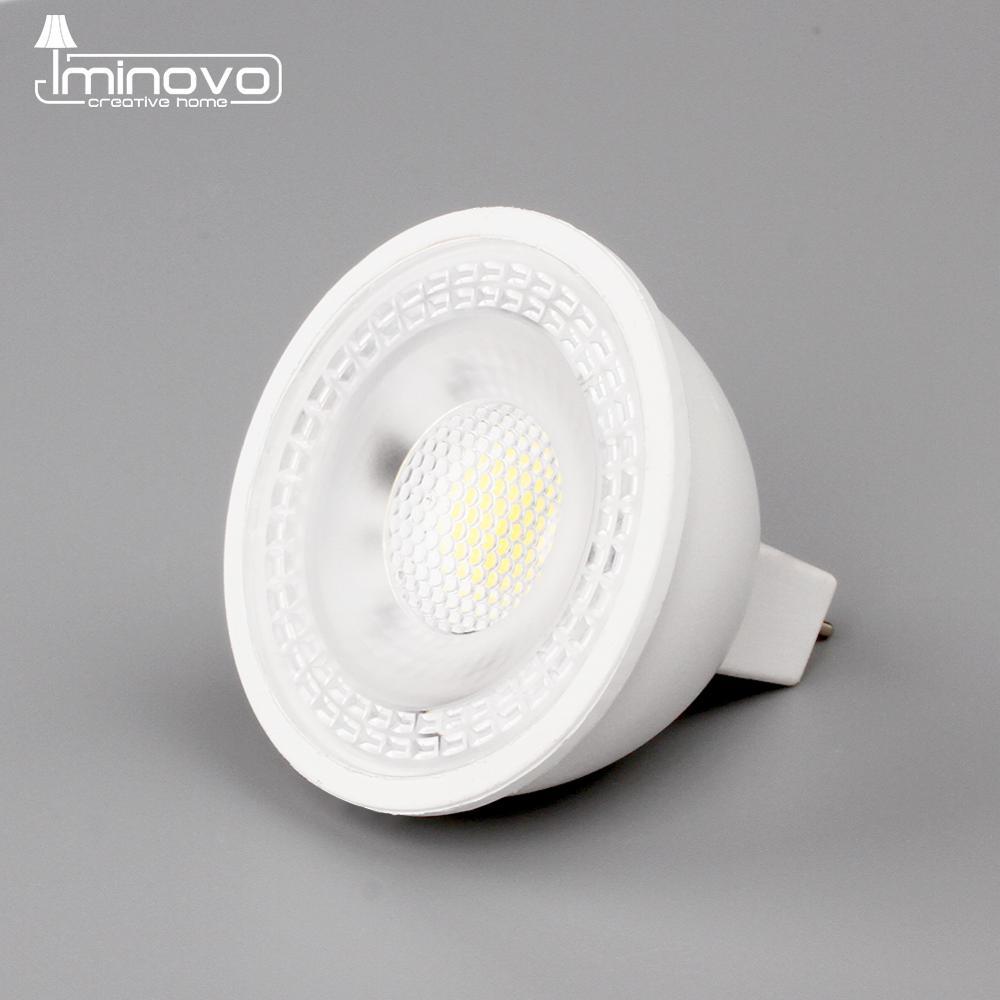 Светодиодный точечный светильник GU10 MR16 GU5.3 SMD, 6 Вт, 220 В, 240 в, 110 В, 12 В переменного тока