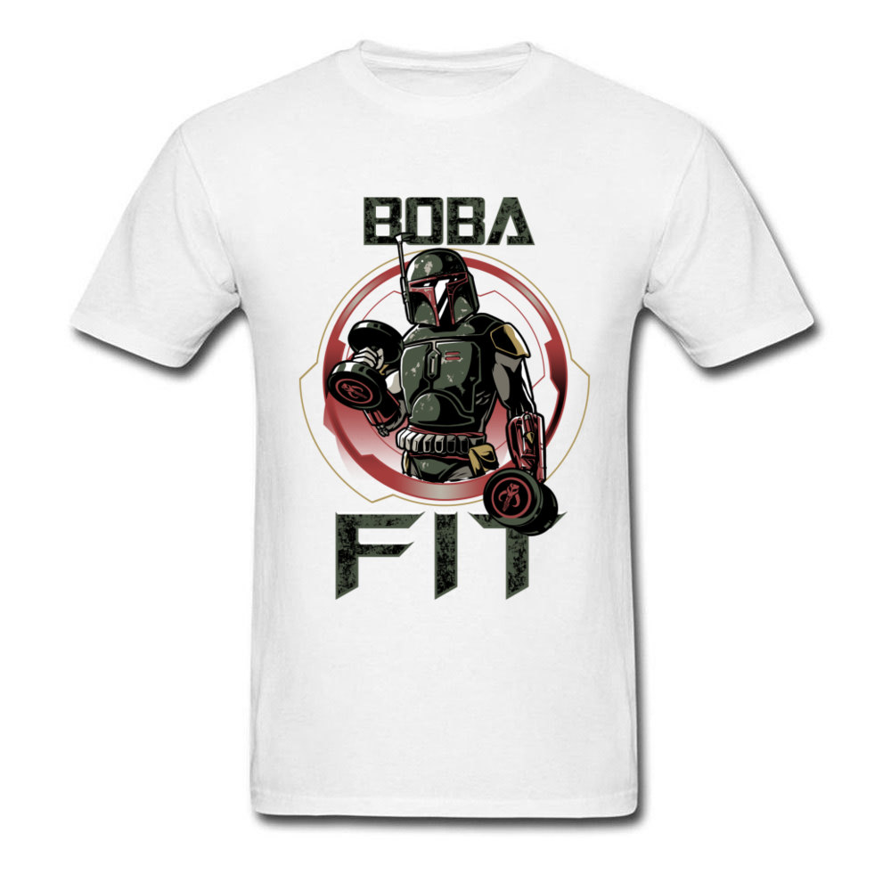 Boba Fit T-shirt Men Funny Star Wars Workout T Shirt Brand New 80s Tops & Tees Printed Male Cotton Clothes Retro Boba Fett Shirt