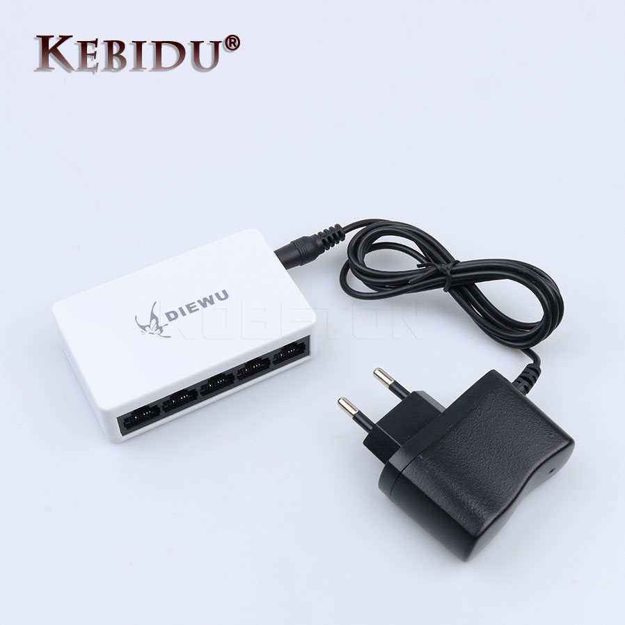 Сетевой коммутатор Mini Fast Ethernet LAN RJ45, 100 Мбит/с, 5 портов