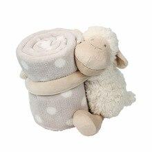 赤ちゃんの快適人形睡眠コンパニオンタオル人形かわいい白子羊保持毛布ベビーおもちゃぬいぐるみ動物子供の誕生日ギフト