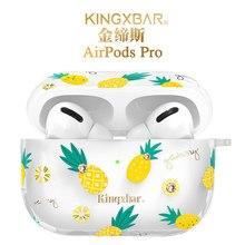 Ananas Diamond Case Voor Airpods Pro Bling Clear Luxe Draadloze Koptelefoon Opladen Box Holder Opslag Oordopjes Beschermhoes