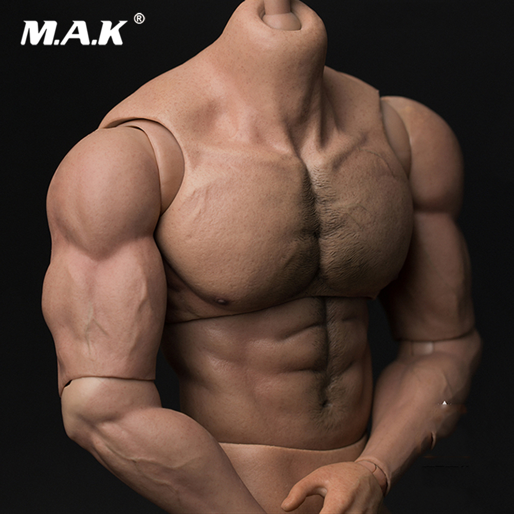 33cm AT027 1/6 Scale Action Figure Tall Male Body Figure Durable Body Ripped Muscular Man Strong Body Model For 1:6 Head