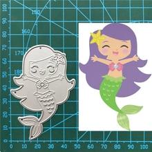 1pcs Cute Fish Mermaid Cutting Dies for DIY Scrapbooking/photo album Decorative Embossing Paper Cards