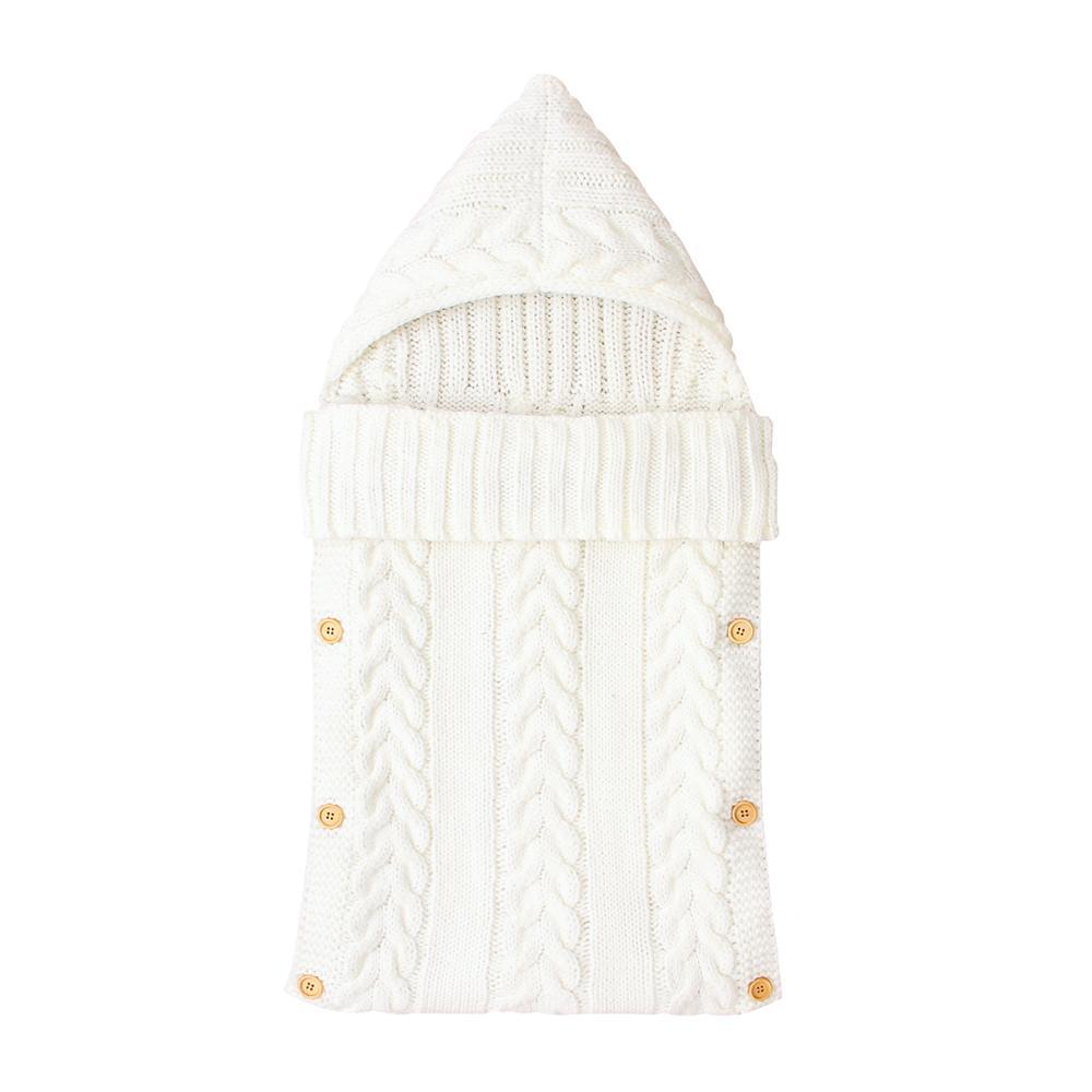 Baby Sleep Sack Newborn Swaddle Slaapzak Autumn Winter Warm Knitted Infant Sleeping Bags 0-6Month Toddler Stroller Bed Envelopes