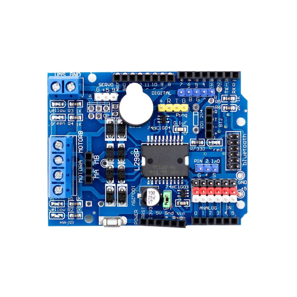 L298P Motor Shield DC Motor Drive Blue Hardware High Tech Module Development Board Exquisitely Designed Durable