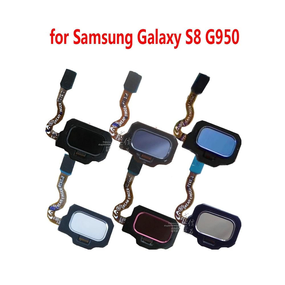 Phone Home Button Fingerprint For Samsung S8 G950F G950 G950FD G950T G950V G950S G950U Original New Back Touch ID Flex Cable