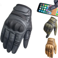 Militaire Volledige Vinger Tactische Handschoenen Fietsen Rijden Airsoft Jacht Leger Handschoenen Hard Knuckle Paintball Training Cs Zomer Winter(China)