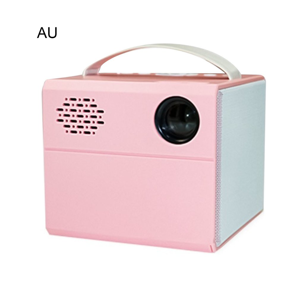 AU TYPE Projector true stereo super sense sound quality Projector HD 1080P home projector portable LED projectors PINK COLOR