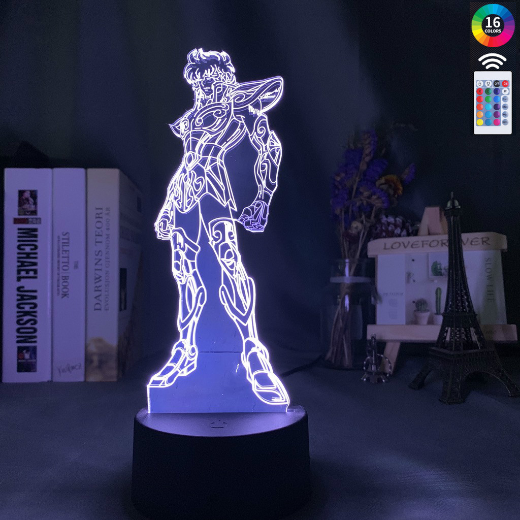 Saint Seiya Knights Of The Zodiac Led Night Light For Kids Bedroom Decoration Usb Battery Powered Nightlight Table Lamp Anime