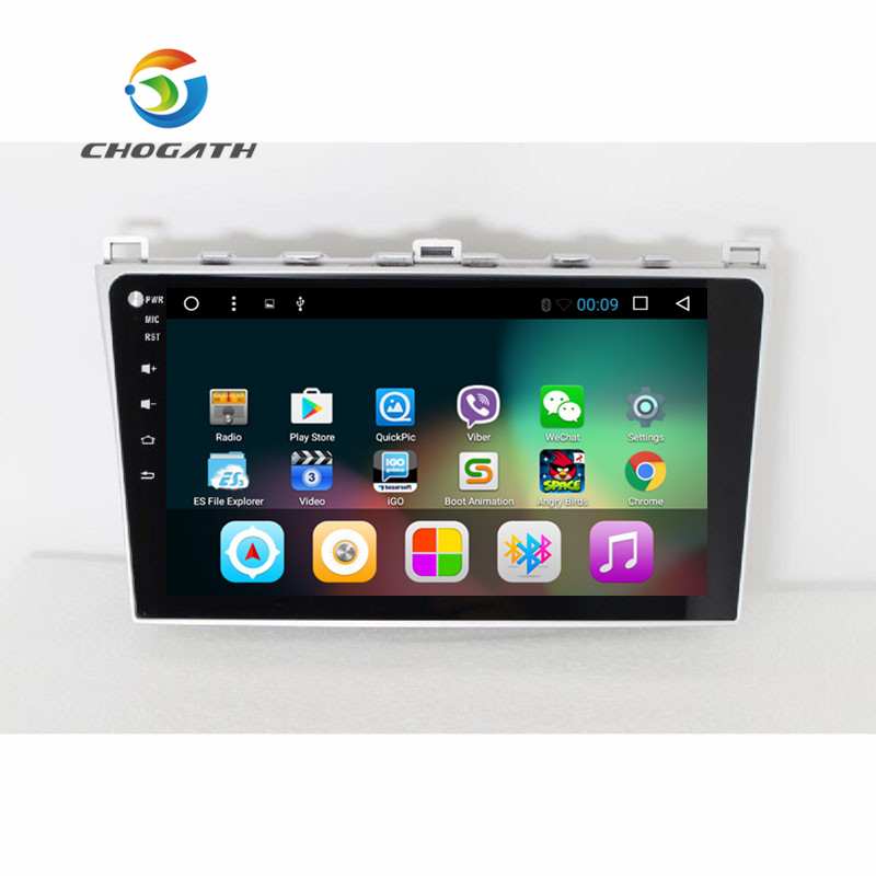 CHOGATH 9'' Quad Core car Multimedia Player Android 8.1 Car Radio <font><b>GPS</b></font> <font><b>Navigation</b></font> Player for <font><b>Mazda</b></font> <font><b>6</b></font> 2008-2015 with Canbus image